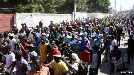 Anti-government protest in Haiti, 18 Nov 13