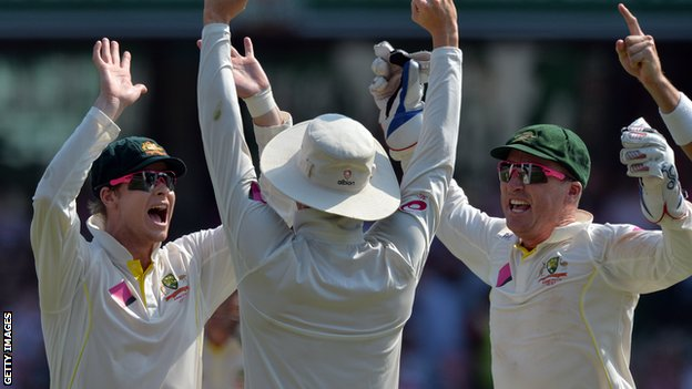 Australia celebrate their Ashes whitewash of England