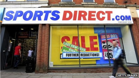 A Sports Direct shopfront