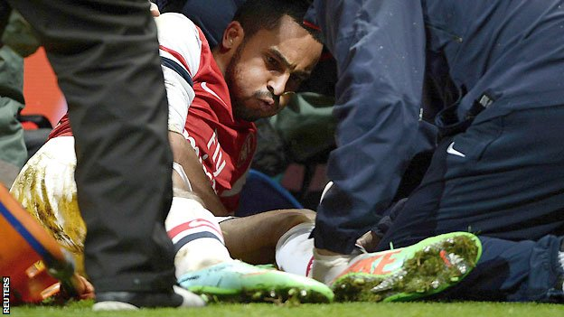 England winger Theo Walcott was ruled out of the 2014 World Cup after getting injured playing for Arsenal against Tottenham