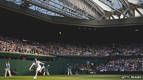 Any Murray playing under the roof on the Centre Court at Wimbledon