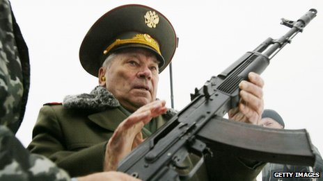 Mikhail Kalashnikov, inventor of the Kalashnikov assault rifle