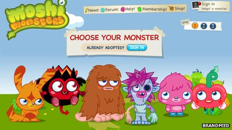 Moshi Monsters adoption page