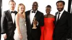 Director Steve McQueen (centre) with 12 Years a Slave stars Michael Fassbender, Sarah Paulson, Lupita Nyong'o and Chiwetel Ejiofor
