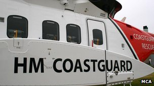 Coastguard helicopter