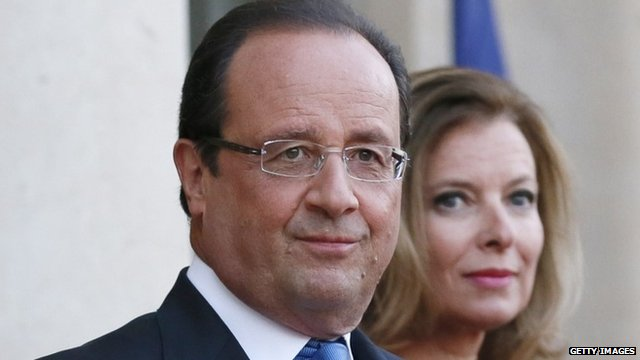 President Francois Hollande and  Valerie Trierweiler - file photo