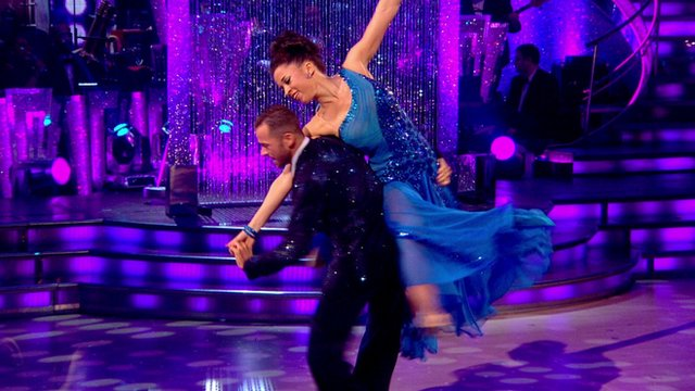 Natalie Gumede in the Strictly Come Dancing final