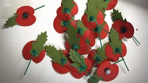 Paper poppies are still made and sold today to raise money for those who have been injured and affected by war