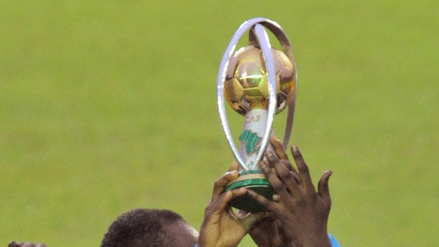 The African Nations Championship trophy
