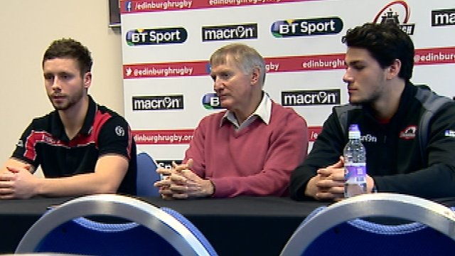 Interview - Edinburgh Rugby coach Alan Solomons and scrum-half Sean Kennedy