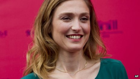 French actress Julie Gayet at the Champs-Elysees Film festival in Paris, June 12, 2013