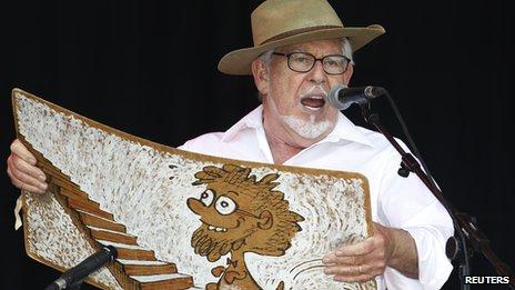 Rolf Harris on stage
