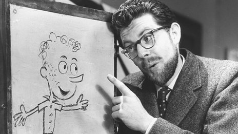 Rolf Harris with Willoughby in 1956