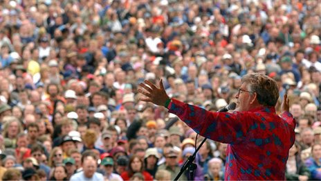 Rolf Harris at Glastonbury 2002