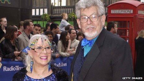 Rolf Harris with wife Alwen in 2003