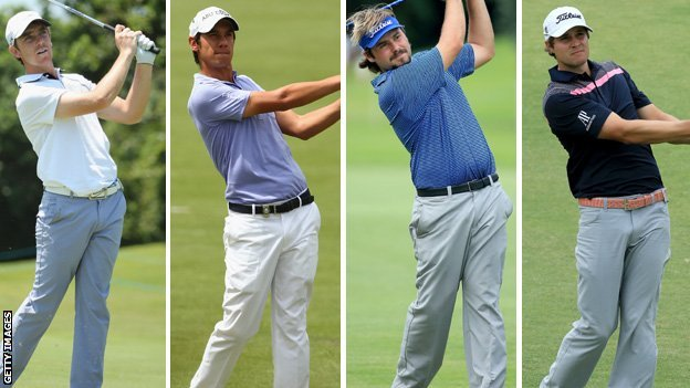 Tommy Fleetwood, Matteo Manassero, Victor Dubuisson and Peter Uihlein