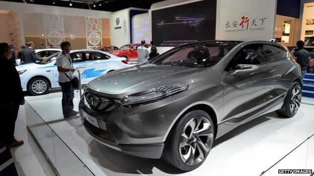 "The ""CS35"" of Chinese car company ""Changan"" is pictured at the IAA international automobile show in Frankfurt, Germany. 11 September 2013"