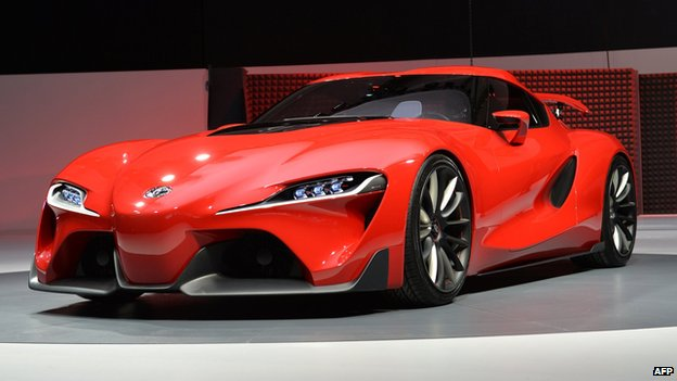 Toyota FT-1 on display