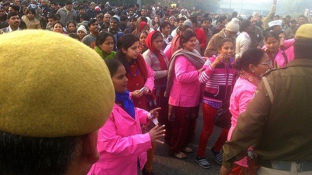 Crowds at Arvind Kejriwal's Janata Durbar