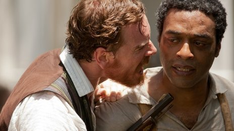 Michael Fassbender (left) and Chiwetel Ejiofor in 12 Years a Slave