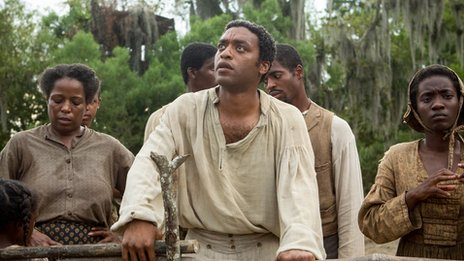 Chiwetel Ejiofor plays Solomon Northup in 12 Years a Slave