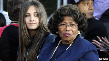 Paris and Katherine Jackson