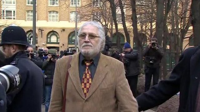 Dave Lee Travis arrives at Southwark Crown Court for trial