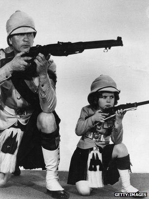 Shirley Temple & Victor McLaglen  in Wee Willie Winkie