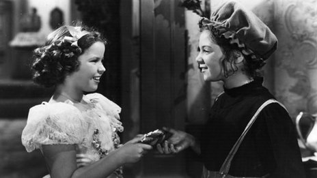 Shirley Temple and Sybil Jason in The Little Princess