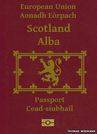Mock up Scots passport