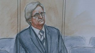 Court sketch of William Roache