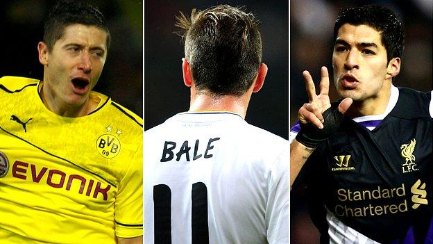 Robert Lewandowski, Gareth Bale, Luis Suarez