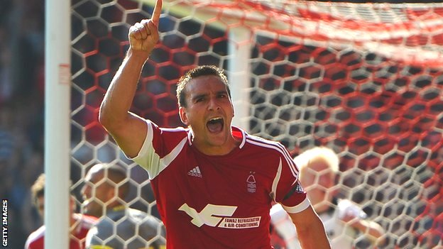 Jack Hobbs celebrates scoring for Nottingham Forest against Derby County