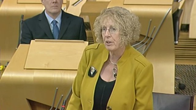 Housing and Welfare Minister Margaret Burgess