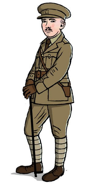 Illustration of Wilfred as a soldier
