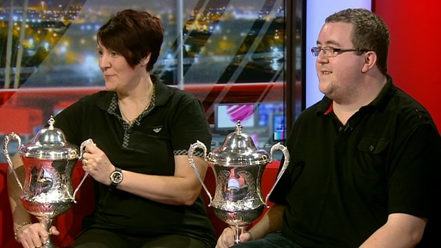 New BDO world darts champions Lisa Ashton and Stephen Bunting