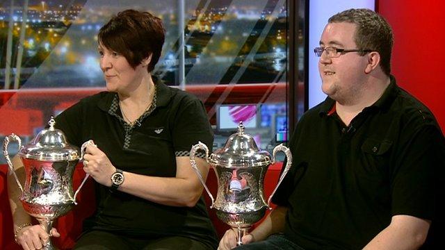 New BDO world darts champions Lisa Ashton and Stephen Bunting