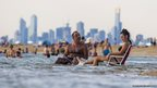 People keep cool at Brighton Beach on 14 January 2014 in Melbourne, Australia.