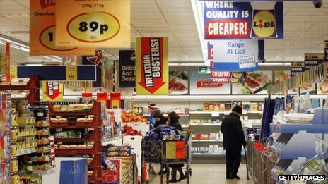The inside of a Lidl shop in London