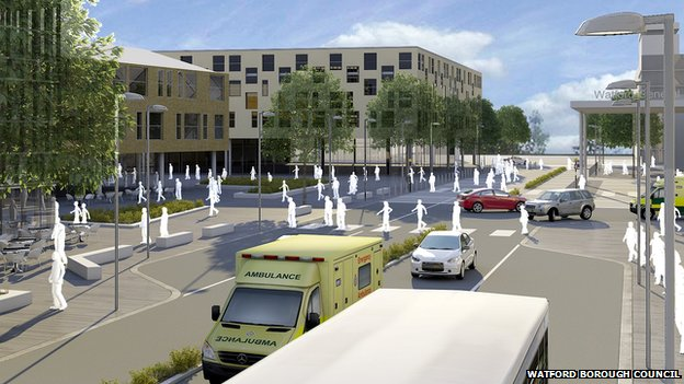 Artist impression of Watford Health Campus