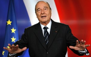 Jacques Chirac gives a televised address on 11 March 2007