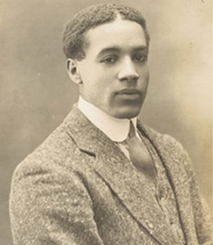 A head and shoulders portrait of Walter Tull