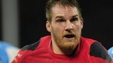 Gethin Jenkins playing for Wales against Argentina