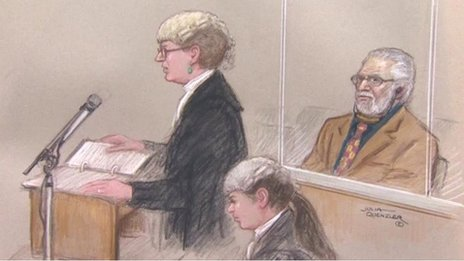 Court sketch of Dave Lee Travis