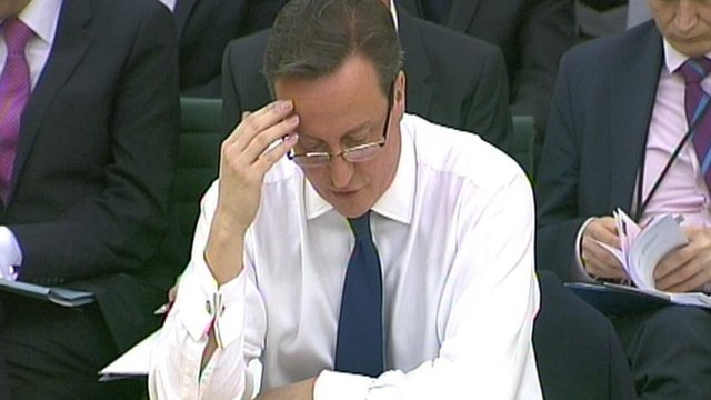 David Cameron before Commons Liaison Committee