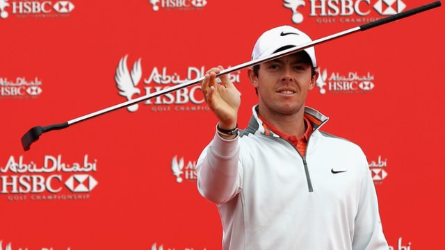 Rory McIlroy at the opening of the Abu Dhabi Championship
