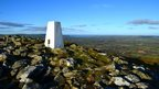 The trig point on Foel Drygarn