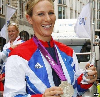 Zara with silver medal