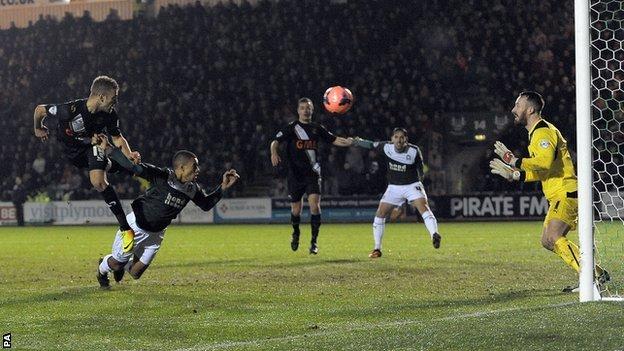 Ben Williamson scores Port Vale's second goal