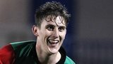 Marcus Kane celebrates after scoring for Glentoran